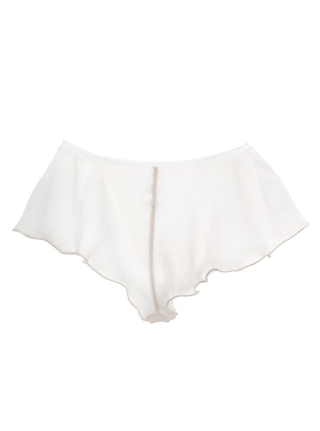 Lorette Lingerie Folie Silk Shorty - Dove Grey