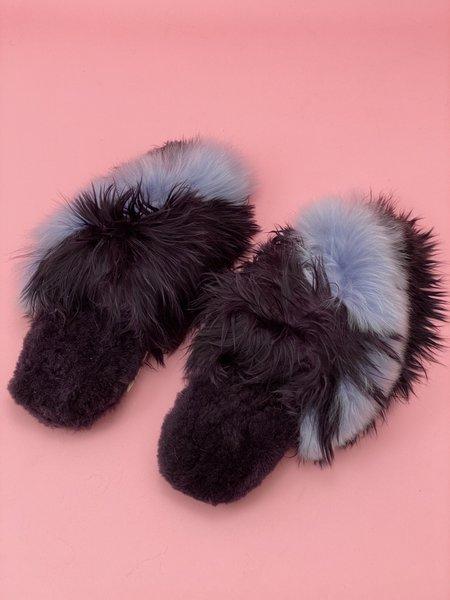 Ariana Bohling Bowie Alpaca Slipper - Plum/Lilac