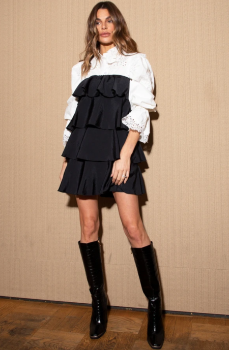 Never Fully Dressed Tiered Mini Dress