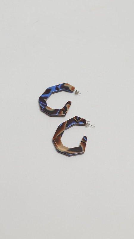 Rachel Comey Baby Factor Earrings - Blue Swirl