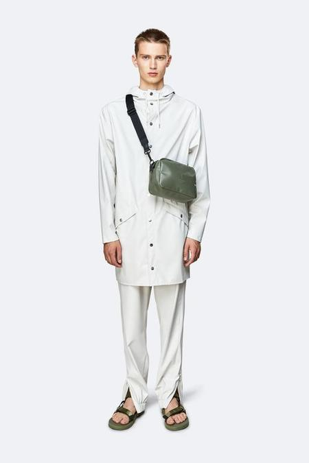 UNISEX Rains Shiny Box Bag - Olive
