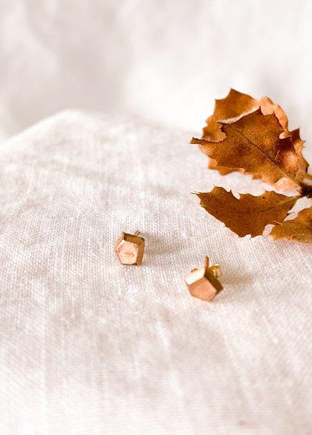 Adeline Jewelry Adeline Geo Studs - Rose Gold