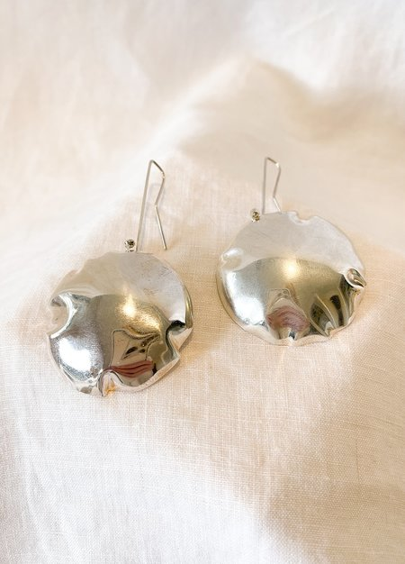 Lila Rice Crush Hook Earrings - Silver