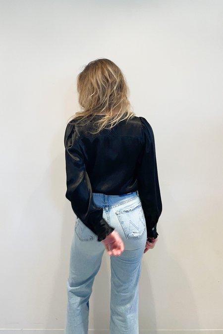 RG KANE Ruffle Sleeve Top - Black