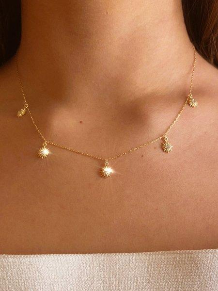 Nicole Kwon Concept Store Starburst Charm Necklace - 14K Gold Vermeil