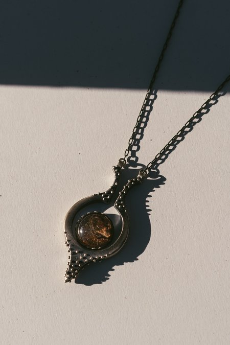 Acid Queen Jewelry Kreia Pendant Necklace with Rutilated Quartz