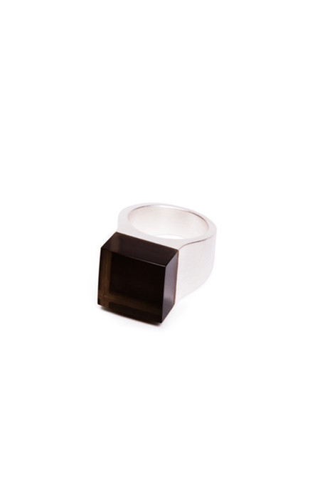 Ming Yu Wang Sterling Silver Vector Large Block Ring