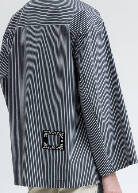 we11done Shell Print Shirt - Black Striped