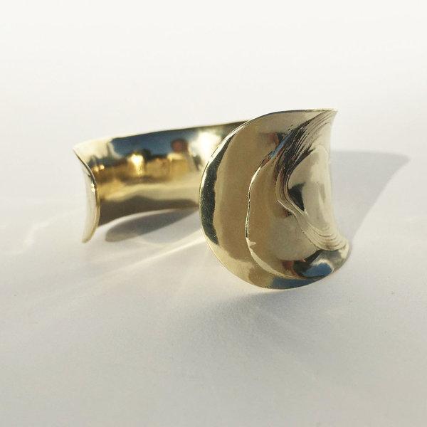 Leigh Miller Brass Anticlast Cuff