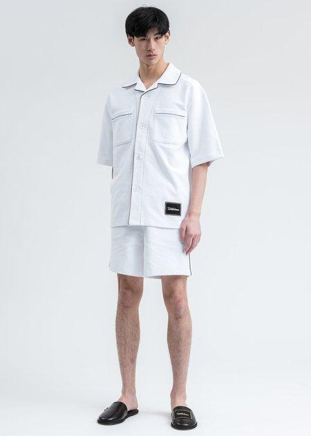 we11done Zurry Pyjama Top Short Sleeve Shirt - White