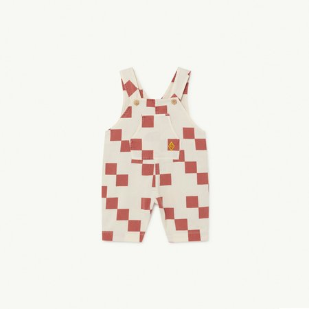 Kids the animals observatory mammoth jumpsuit - Red Checker