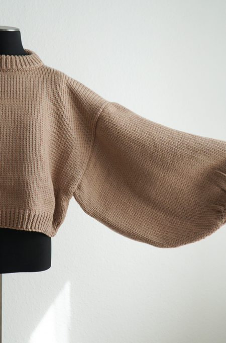 I love Mr Mittens Jackie Light Wool Pullover - Taupe