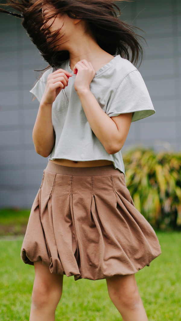 Kid's Mimobee Bubble Bubble Skirt - Cocoa