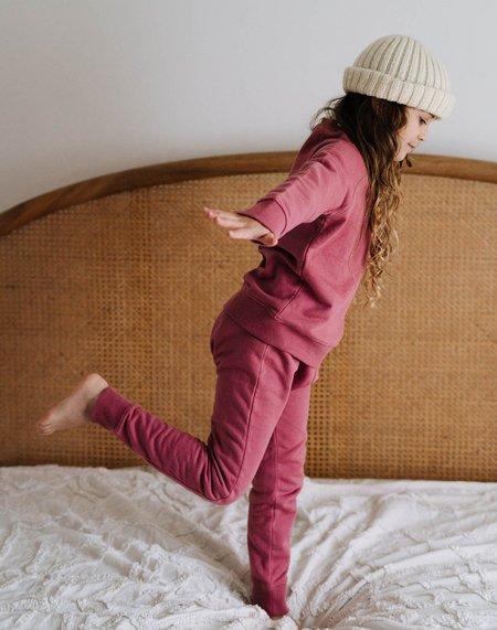 Kids Noble Organic Sweatpants - Elderberry