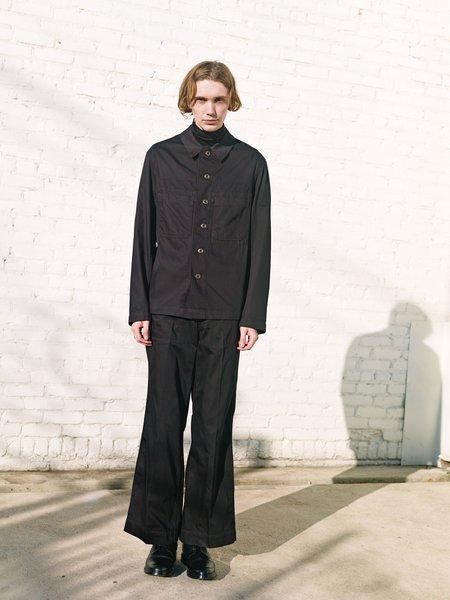 Lemaire Light Cotton Denim Workwear Overshirt - Black