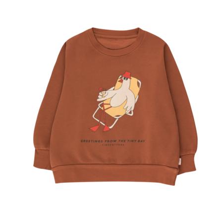 Kids Tinycottons Bird Sweatshirt - Brown