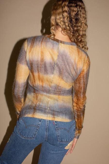 PRISCAVera Mock Neck Paneled Top - Hazel Dye