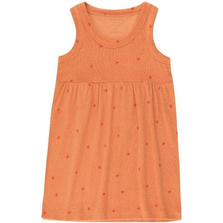 kids tinycottons starfish dress - Papaya/Red