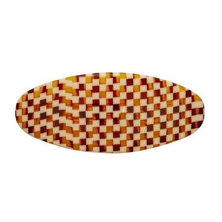 Tortoise Checker Jumbo Oval Clip