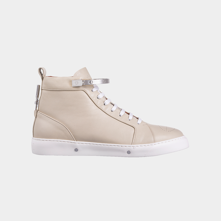 Kanovitch High Top Sneakers - Cream White/Gold Plated 24K