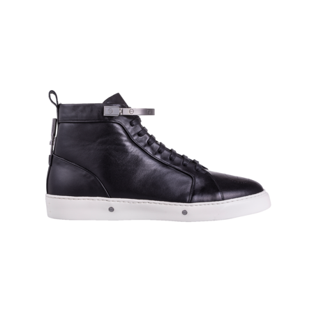 Kanovitch High Top Leather Sneakers - Black Rhutenium