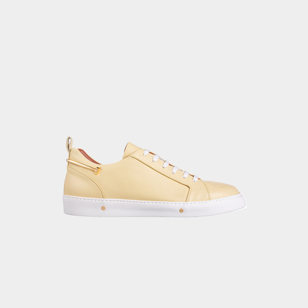 Kanovitch Low Top Sneakers - Yellow Pastel/Gold Plated 24K