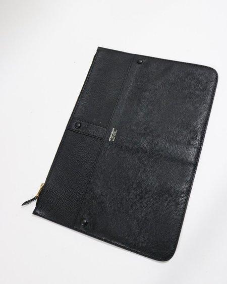 [pre-loved] Giorgio Armani Flat Leather Clutch - Black
