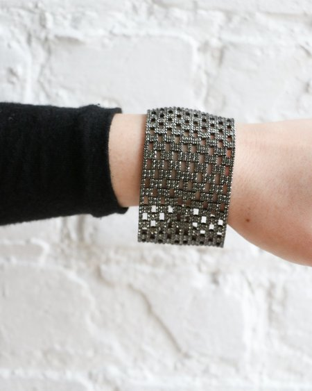 [pre-loved] Rosanne Pugliese Encrusted Cuff Bracelet - Black