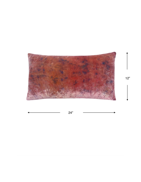 KES Sustainable Kapok Velvet Linen Pillow with Organic Dye