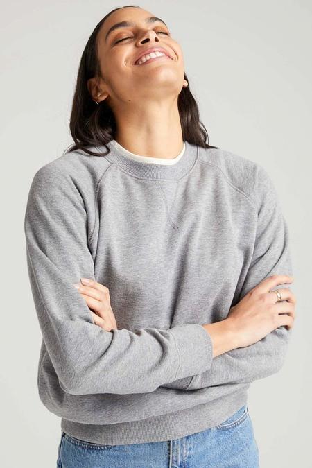 Richer Poorer Recycled Crew Sweatshirt - Heather Grey