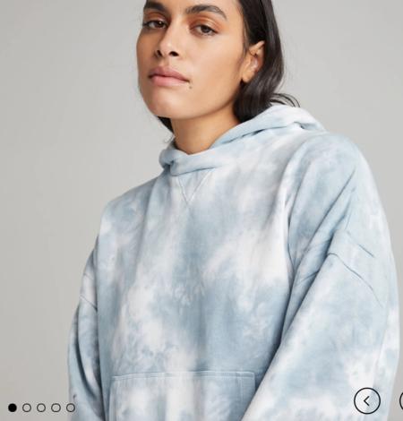 Richer Poorer Recycled Fleece Hoodie - Blue Mirage