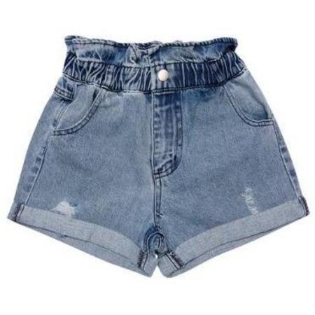 kids The New Society lola denim shorts - light blue
