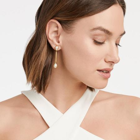 Julie Vos Cassis Duster Earring - Pearl