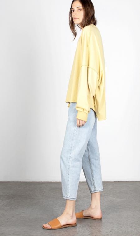 Mod Ref  Raw Hem Sweatshirt - Yellow