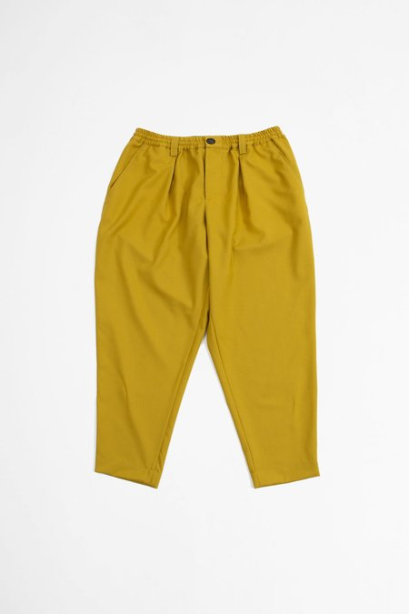 Marni Cropped Tailored Wool Trousers - Yellow