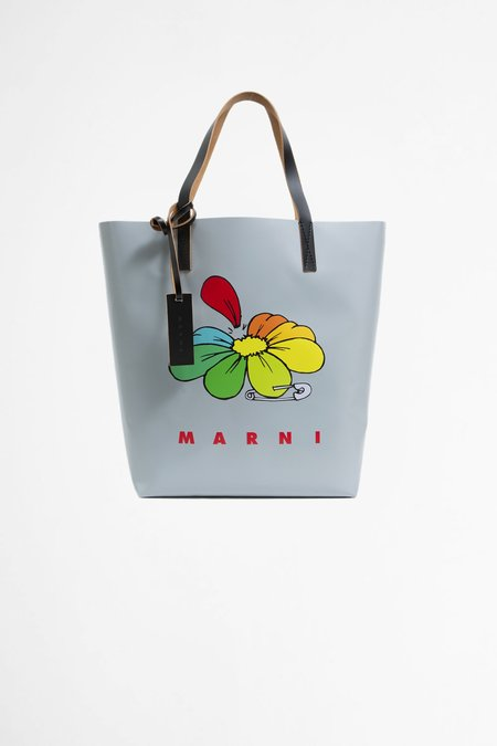 Marni Shopping Bag - Daisy Print Grey