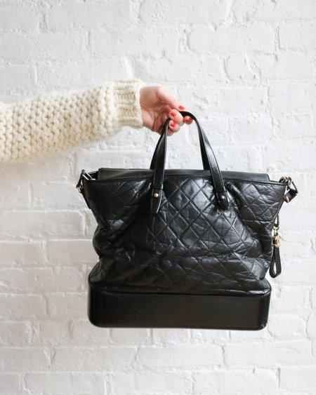 [pre-loved] Chanel Large Gabrielle Tote Bag - Black