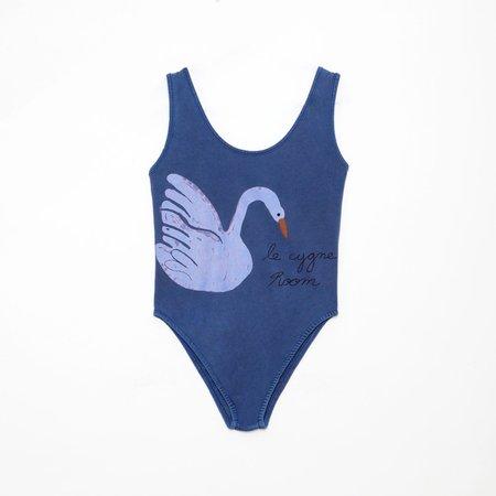 kids Weekend House Kids Swan Swimsuit - blue