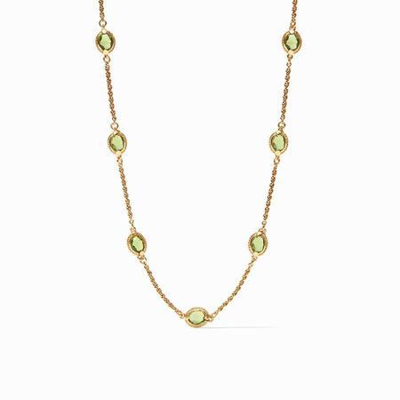 Julie Vos Calypso Demi Delicate Necklace - 24K gold/jade green