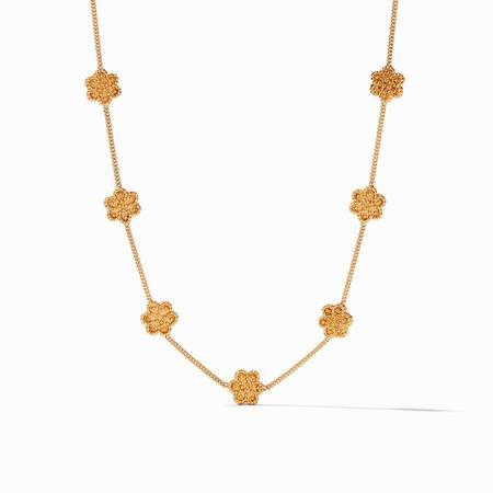 Julie Vos Colette Delicate Station Necklace - 24K gold