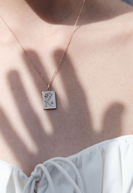 Meadowlark Amour Necklace - gold/reclaimed white diamond