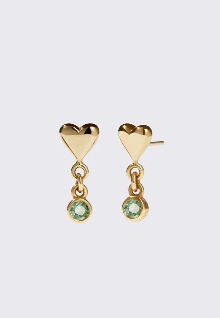 Meadowlark Camille Stud Earrings - gold/green sapphire