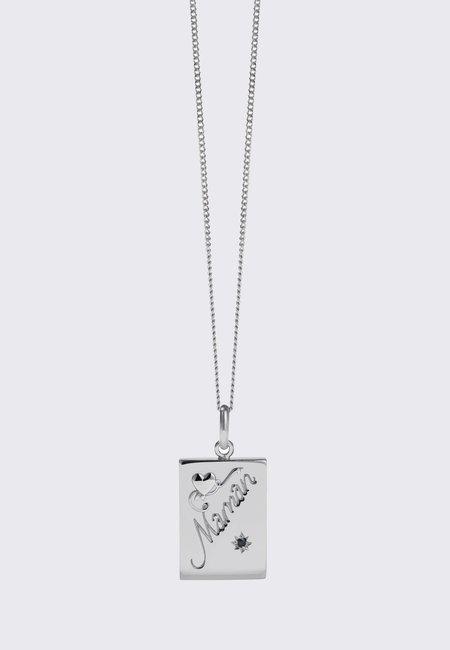 Meadowlark Maman Necklace -silver/dark blue sapphire