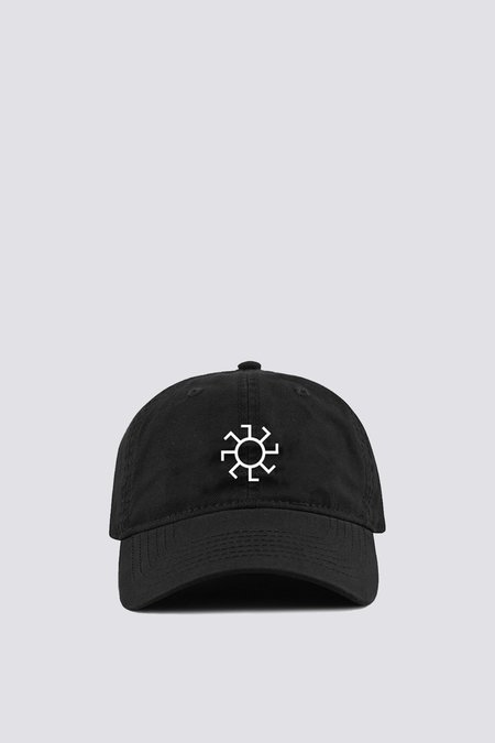 Assembly Sunwheel Embroidered Hat - Black/White