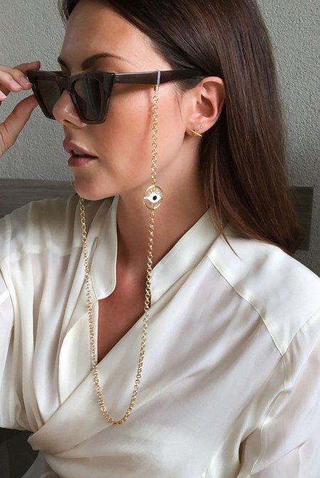 Talis Chains Flirty Eyes Sunglass Chain - Gold