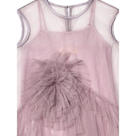 kids tutu du monde st tropez tulle dress - purple heather