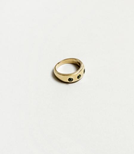 MERAKI BOUTIQUE Wolf Circus Mabel Ring - Peridot/Gold