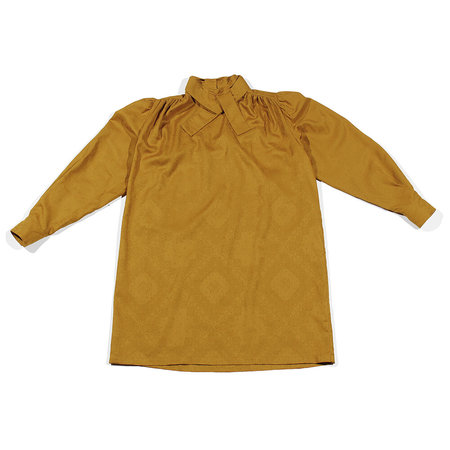 Carleen Lynn Dress - Gold Bandana