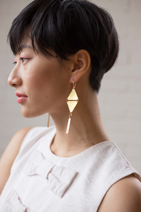 Bang Bang Bijoux Jade Geometric Earrings