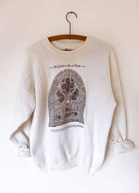 Vintage Golden Age of Radio Sweatshirt - White